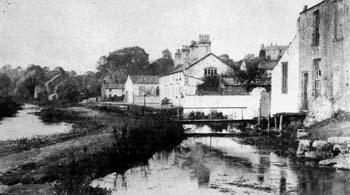 Old photo of mill stream